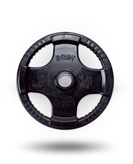 Body-Solid Rubber Grip Olympic Plate 45 lb