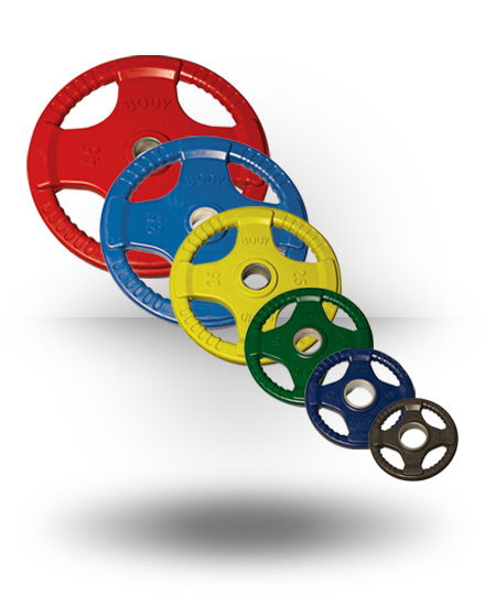 Body-Solid Rubber Grip Olympic Set (Colored) (plates only) 45