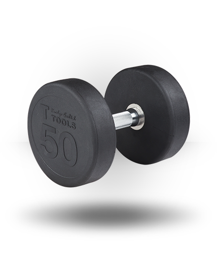 Body-Solid Rubber Pro-Style Dumbbell 50 lb