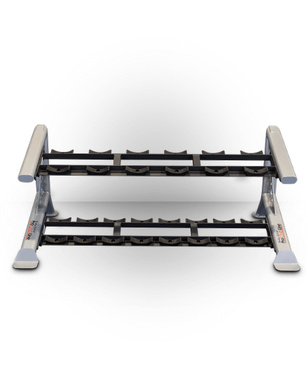 Body-Solid ProClubline 2 Tier Saddle Dumbbell Rack