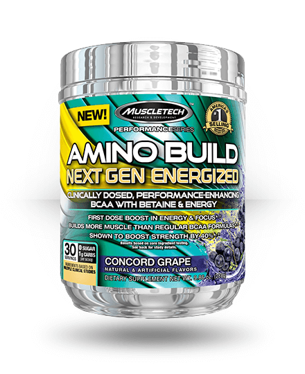 MuscleTech Amino Build Next Gen Energized Concord Grape 30 Servings