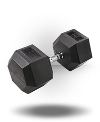 Body-Solid Rubber Coated Hex Dumbbell 100 lb