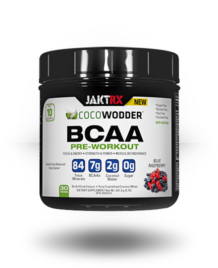 JAKT RX CocoWodder BCAA Pre-Workout Blue Raspberry