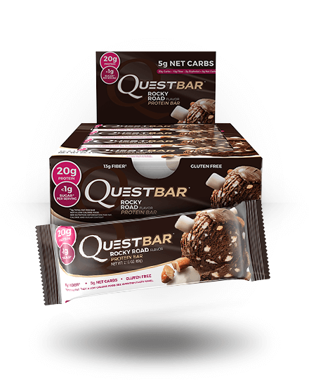 Quest Nutrition Protein Bar Rocky Road 12 Bars
