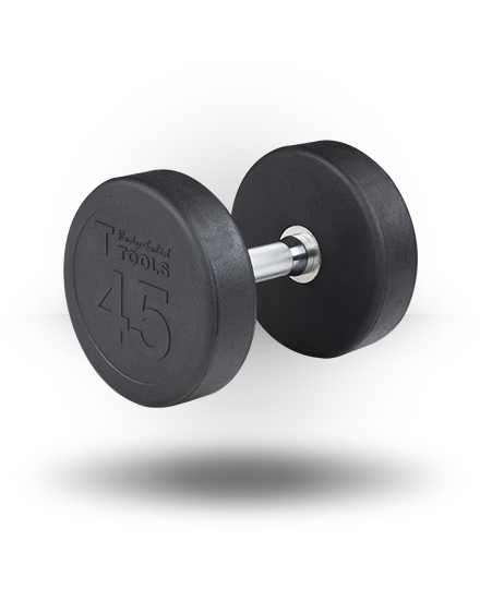 Rubber Pro-Style Dumbbell Set