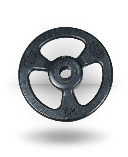 York Barbell Iso-Grip Steel Composite Olympic Plate 100 lb
