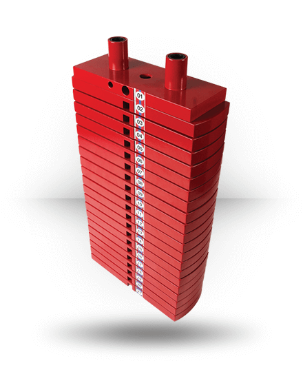 Body-Solid Premium Red Steel Weight Stack 200 lb HP200