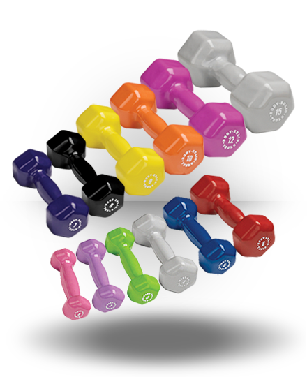 Body-Solid Vinyl Dumbbell Set Pairs 1-15 lb