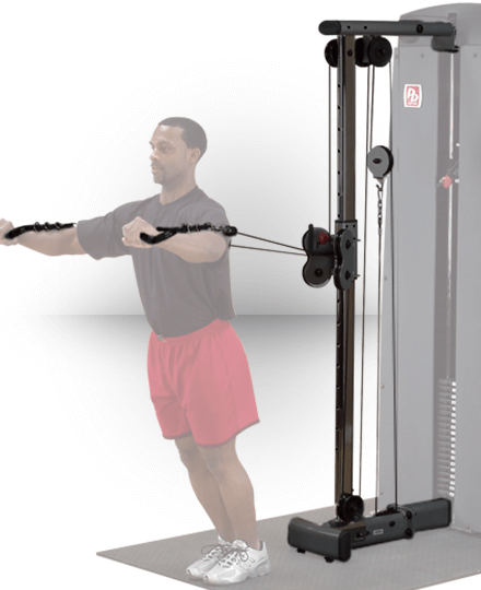Body-solid Pro Dual Adjustable Cable Column (For DGYM - NO STACK)