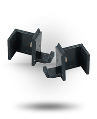 York Barbell ST Single Bar Holders (Pair) Black