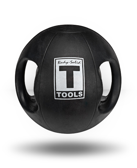 Body-Solid Dual Grip Medicine Ball Black 20 lb