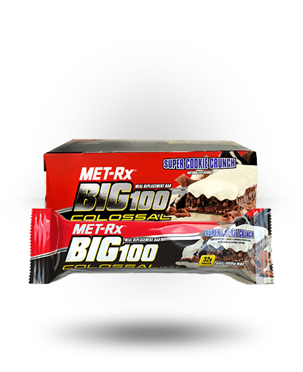 MET-Rx Big 100 Colossal Super Cookie Crunch 9 x 3.52 oz Bars