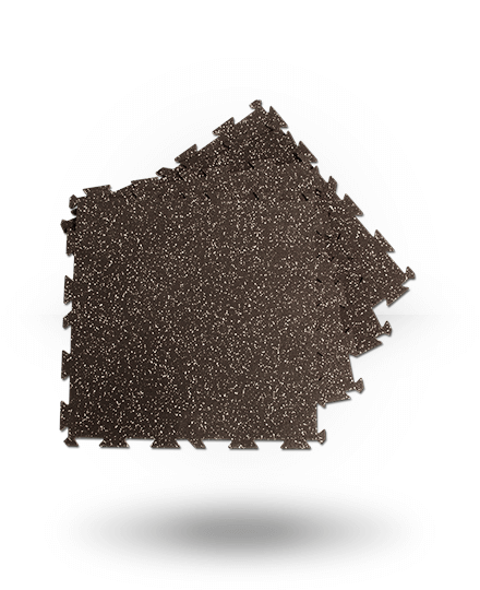 Body-Solid Interlocking Rubber Flooring Black/Gray