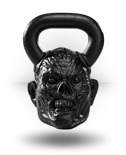 Onnit Zombie Bell Ghost Face Thrilla 54 lb (1.5 Pood)