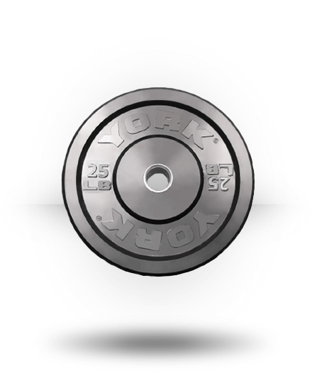 York Barbell Solid Rubber Training Bumper Plate (lb) 25 lb
