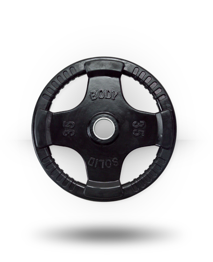 Body-Solid Rubber Grip Olympic Plate 35 lb
