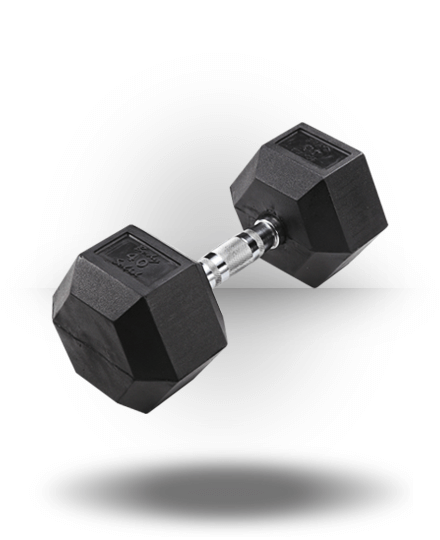 Body-Solid Rubber Coated Hex Dumbbell 40 lb