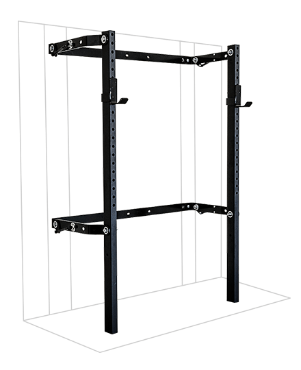 PRX Performance 2x3 Profile Squat Rack Black Oynx