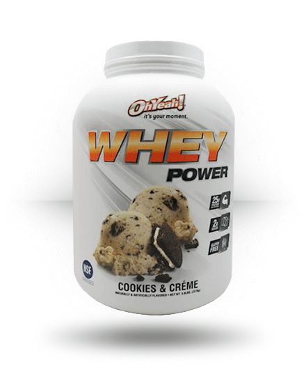 OhYeah! Whey Power Cookies & Creme 5 lb