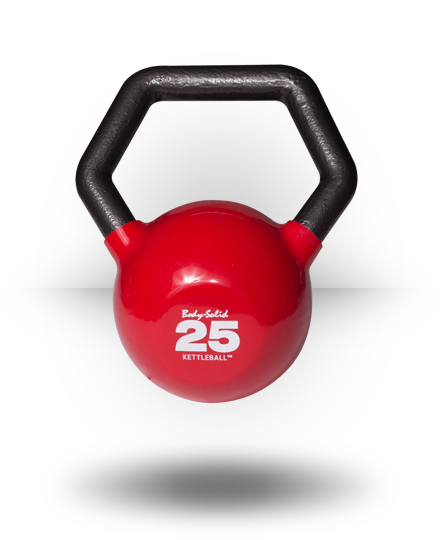 Body-Solid Vinyl Dipped Kettleball 25 lb