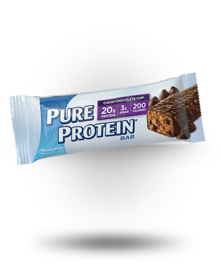 Worldwide Sport Nutritional Supplements Pure Protein High Protein Bar Chewy Chocolate Chip