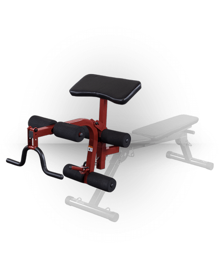 Best Fitness Leg Developer/Preacher Curl Attachment Red BFPL10R
