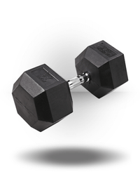 Body-Solid Rubber Coated Hex Dumbbell 75 lb