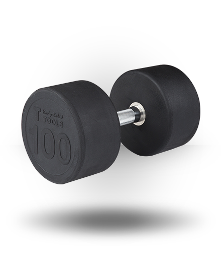 Body-Solid Rubber Pro-Style Dumbbell 100 lb