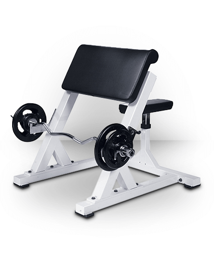 York Barbell Preacher Curl White