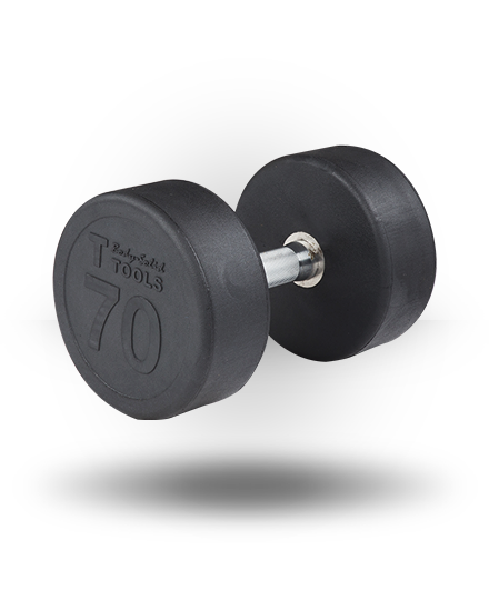 Body-Solid Rubber Pro-Style Dumbbell 70 lb