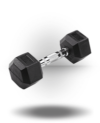 Body-Solid Rubber Coated Hex Dumbbell 10 lb