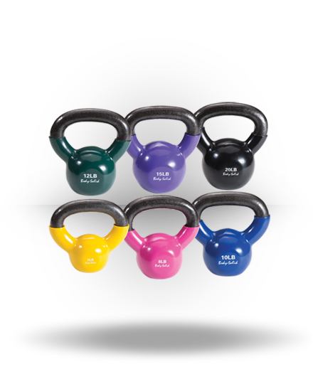 Body-Solid Vinyl Coated Kettlebell Set 5-20 lb