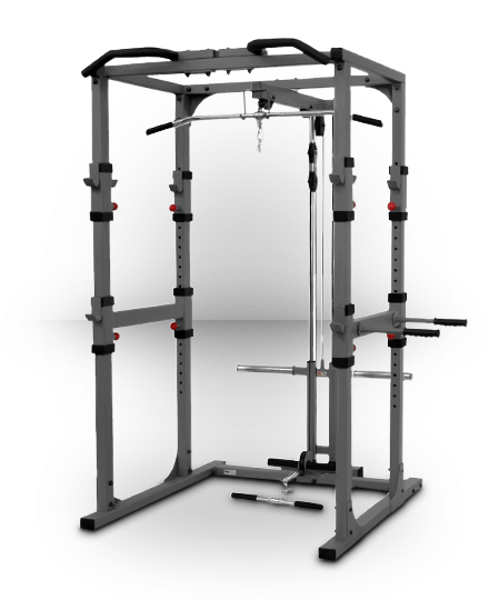 XMark Power Cage with Lat Pulldown and Low Row Attachment