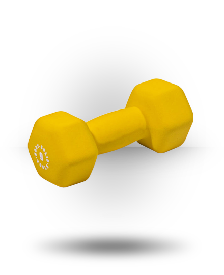 Body-Solid Neoprene Dumbbell, 9 lb Yellow