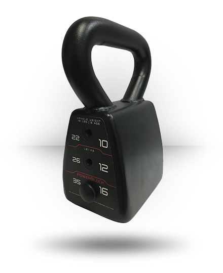 PowerBlock Adjustable Kettlebell 18-35 lb
