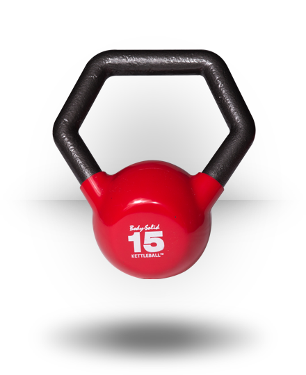 Body-Solid Vinyl Dipped Kettleball 15 lb