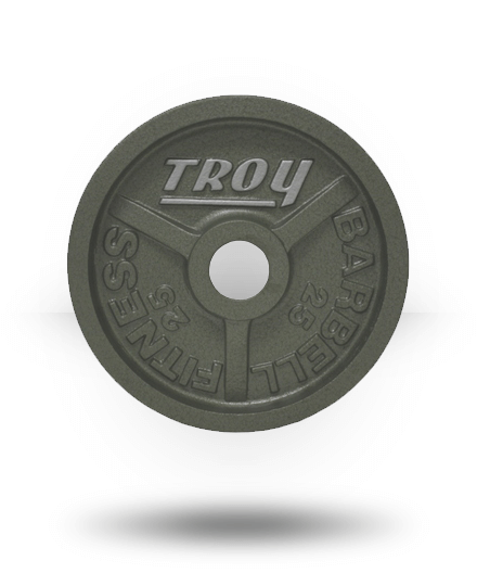Troy Barbell Fully Machined Gray Wide-Flanged Olympic Plate 25 lb