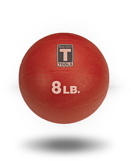 Body-Solid Medicine Ball, Red, 8 lb