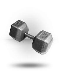York Barbell Pro Hex Dumbbell With Cast Ergo Handle 100 lb