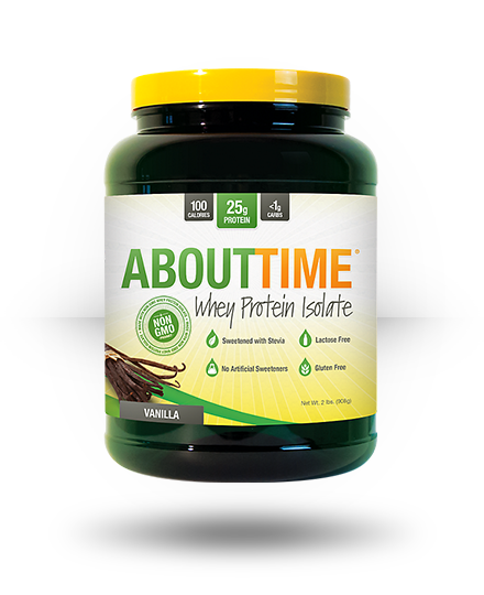 About Time Whey Protein Isolate Vanilla, 2 lb
