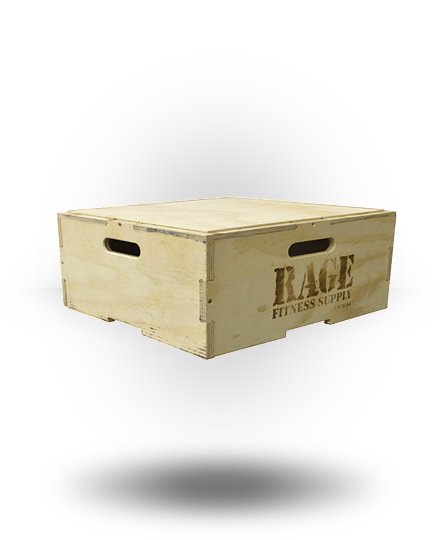 Rage Fitness Rage Wood Stackable Plyo Box 8""