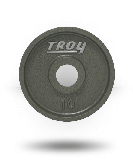 Troy Barbell Fully Machined Gray Wide-Flanged Olympic Plate 10 lb