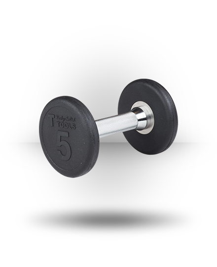 Body-Solid Rubber Pro-Style Dumbbell 5 lb