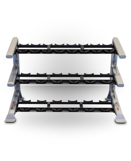 Body-Solid ProClubline 3 Tier Saddle Dumbbell Rack