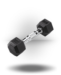 Body-Solid Rubber Coated Hex Dumbbell 5 lb