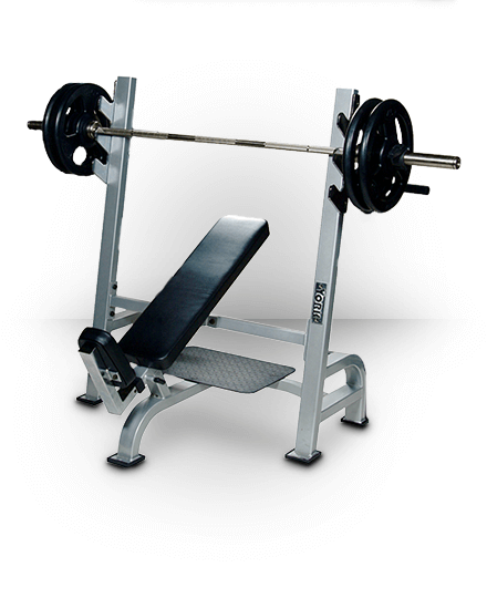 York Barbell Olympic Incline Bench With Gun Racks Silver