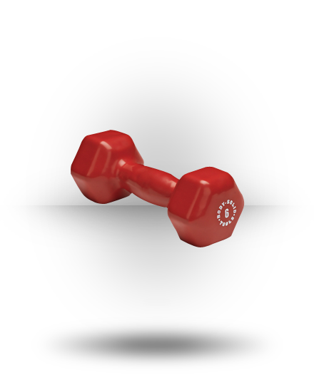 Body-Solid Vinyl Dumbbell Red 6 lb