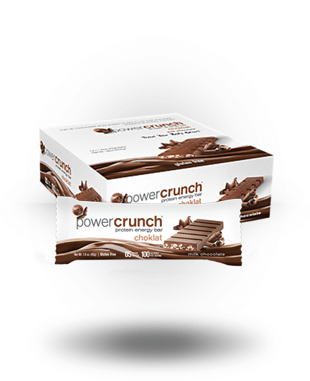 Power Crunch Choklat Protein Energy Bar Milk Chocolate 12 x 1.5 oz Bars