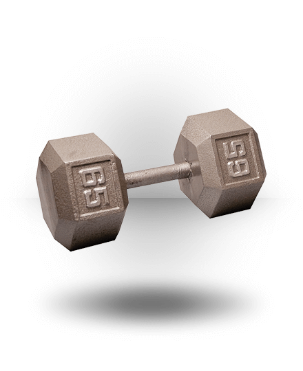 Body-Solid Hex Dumbbell 65 lb