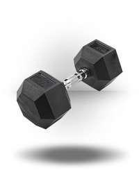 Body-Solid Rubber Coated Hex Dumbbell 45 lb